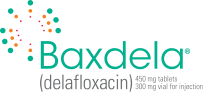 BAXDELA (delafloxacin) 450 mg tablets • 300 mg vial for injection